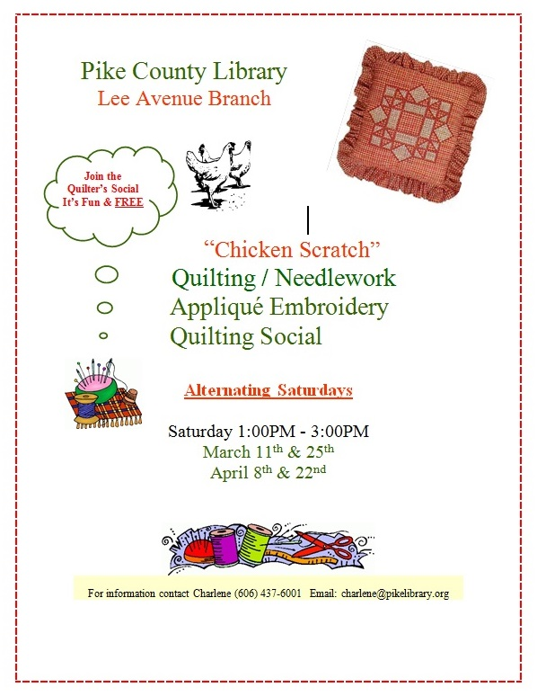 Quilting Class Lee Avenue Branch